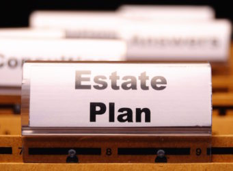 a file titled estate plan