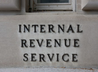 IRS Headquarters Sign in Washington, D.C.